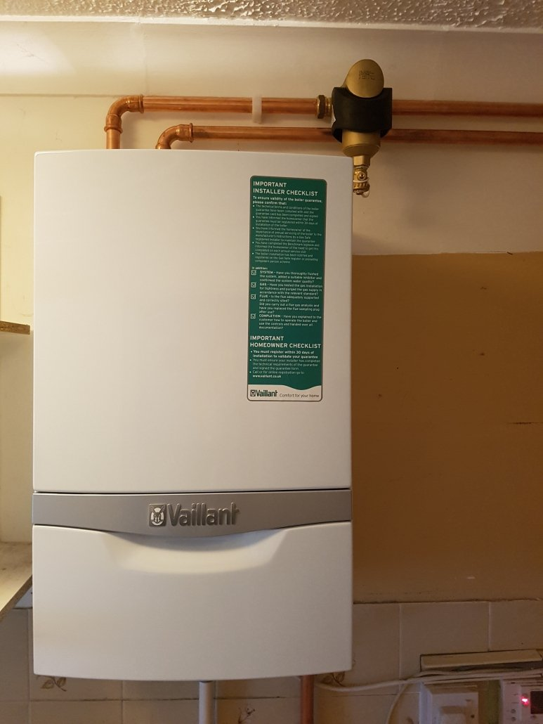 Vaillant system replacement boiler installed